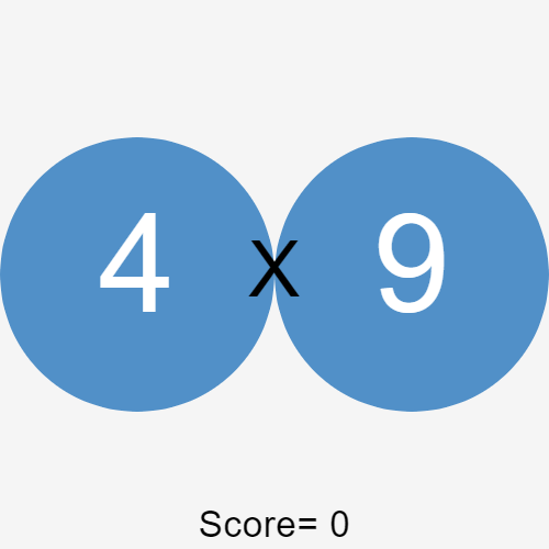 multiplication game built with p5.js
