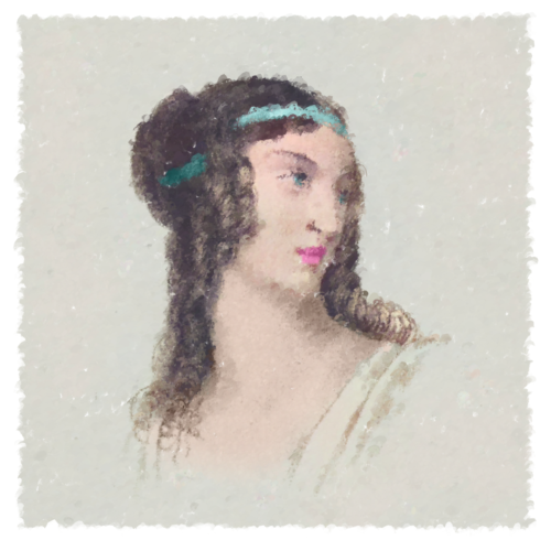 Lovely lady painted with code - Generative Painting